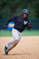 GCL Yankees West left fielder Stanley Rosario (38) runs the bases during the second game of a doubleheader against the GCL Braves on July 30, 2018 at Champion Stadium in Kissimmee, Florida.  GCL Braves defeated GCL Yankees West 5-4.  (Mike Janes/Four Seam Images)