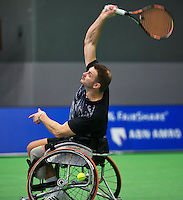 Rotterdam,Netherlands, December 15, 2015,  Topsport Centrum, Lotto NK Tennis, Wheelchair tennis, Ricky Molier  (NED)<br /> Photo: Tennisimages/Henk Koster