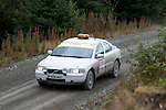 14th September 2012 - Devils Bridge - Mid Wales : WRC Wales Rally GB SS6 Myherin stage : Safety car running the stage before the rally cars come through.