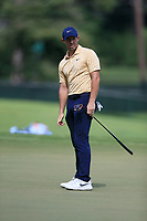 4th September 2020, Atlanta GA, USA;  Rory McIlroy watches his putt on the 9th green during the first round of the TOUR Championship  at the East Lake Golf Club in Atlanta, GA.