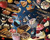 Lori, STILL LIFE STILLEBEN, NATURALEZA MORTA, paintings+++++Dessert Puzzle_2,USLS170,#i#, EVERYDAY