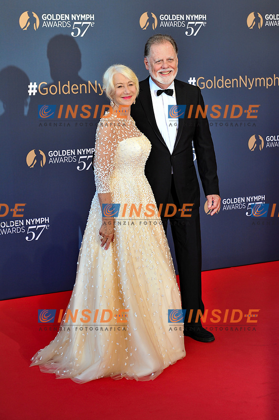 Helen Mirren et son mari Monaco - 20/06/2017<br /> 57 festival TV Monte Carlo <br /> Foto Norbert Scanella / Panoramic / Insidefoto