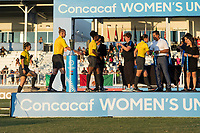 Bradenton, FL - Sunday, June 12, 2018: CONCACAF Awards, Referee during a U-17 Women's Championship Finals match between USA and Mexico at IMG Academy.  USA defeated Mexico 3-2 to win the championship.