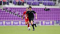 Orlando, Florida - Saturday January 13, 2018: Marcelo Acuna. Match Day 1 of the 2018 adidas MLS Player Combine was held Orlando City Stadium.