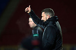 St Johnstone v Aberdeen…13.12.17…  McDiarmid Park…  SPFL<br />Thumbs up from Derek McInnes<br />Picture by Graeme Hart. <br />Copyright Perthshire Picture Agency<br />Tel: 01738 623350  Mobile: 07990 594431