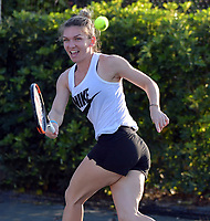 KEY BISCAYNE, FL - MARCH 20: Simona Halep attends the 9Th Annual All-Star Charity Tennis Event benefitting ACEing Autism at the  Ritz Carlton Key-Biscayne. Simona Halep is a Romanian professional tennis player. She is the current world No. 1 on the WTA Tour on March 20, 2018 in Key Biscayne, Florida. <br /> <br /> <br /> People:  Simona Halep