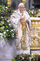 The New Year solemn mass Pope Benedict XVI in Saint Peter's Basilica at the Vatican, 1 Jan, 2009