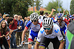World Champion Alejandro Valverde (ESP) Movistar Team puts the hurt on the main contenders up the Superga for the 1st ascent during the 99th edition of Milan-Turin 2018, running 200km from Magenta Milan to Superga Basilica Turin, Italy. 10th October 2018.<br /> Picture: Eoin Clarke | Cyclefile<br /> <br /> <br /> All photos usage must carry mandatory copyright credit (© Cyclefile | Eoin Clarke)