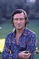Hugh Hefner, Playboy Mansion, Los Angeles California, 1973. Photo by John G. Zimmerman.