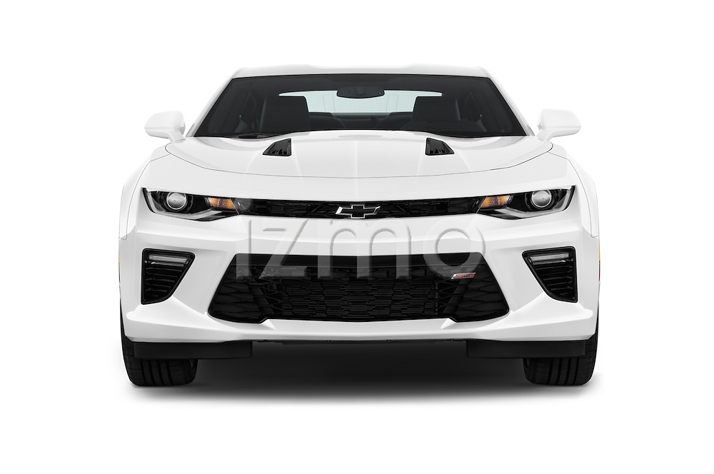 Car photography straight front view of a 2018 Chevrolet Camaro 2SS 2 Door Coupe Front View