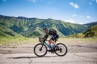 Matteo Jorgenson (USA/Movistar) descending the Passo Della Calla<br /> <br /> 104th Giro d'Italia 2021 (2.UWT)<br /> Stage 12 from Siena to Bagno di Romagna (212km)<br /> <br /> ©kramon
