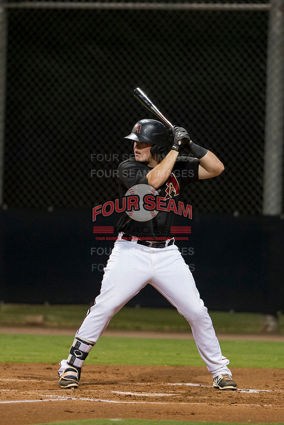 AZL Diamondbacks first baseman Jordan McArdle (45) at bat against the AZL Padres 2 on August 29, 2017 at Salt River Fields at Talking Stick in Scottsdale, Arizona. AZL Diamondbacks defeated the AZL Padres 2 4-3. (Zachary Lucy/Four Seam Images)