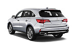 Car pictures of rear three quarter view of a 2018 Acura MDX Sport Hybrid Advance Package 5 Door SUV angular rear
