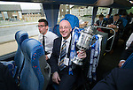 St Johnstone v Dundee United....17.05.14   William Hill Scottish Cup Final<br /> Paul Smith on the journey back to Perth<br /> Picture by Graeme Hart.<br /> Copyright Perthshire Picture Agency<br /> Tel: 01738 623350  Mobile: 07990 594431