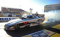 Feb. 17 2012; Chandler, AZ, USA; NHRA funny car driver Jack Beckman during qualifying for the Arizona Nationals at Firebird International Raceway. Mandatory Credit: Mark J. Rebilas-