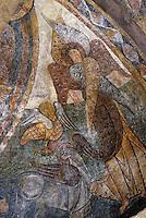 Europe/France/Midi-Pyrénées/09/Ariège/Couserans/Montgauch: Eglise - Fresques romanes XIIème