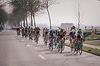 World Champion Peter Sagan (SVK/Bora-Hansgrohe) driving the first peloton in the race finale<br /> <br /> 81st Gent-Wevelgem in Flanders Fields (1.UWT)<br /> Deinze > Wevelgem (251km)
