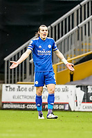 7th February 2021; Molineux Stadium, Wolverhampton, West Midlands, England; English Premier League Football, Wolverhampton Wanderers versus Leicester City; Caglar Soyuncu of Leicester City receives a yellow card in the 53rd minute