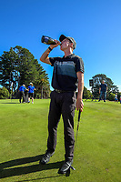 Daniel Hillier celebrates winning the 2020 Super 6s final. Final day of the Jennian Homes Charles Tour / Brian Green Property Group New Zealand Super 6s at Manawatu Golf Club in Palmerston North, New Zealand on Sunday, 8 March 2020. Photo: Dave Lintott / lintottphoto.co.nz