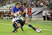 Karim Bellarabi (Deutschland Germany) gegen Robin Lod (Finnland) - Deutschland vs. Finnland, Borussia Park, Mönchengladbach