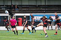 Chris Hankinson (on loan from Wigan) of London Broncos with a penalty during the Betfred Championship match between London Broncos and Newcastle Thunder at The Rock, Rosslyn Park, London, England on 9 May 2021. Photo by Liam McAvoy.