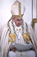 Pope Francis Celebration of the second vespers of Saint Paul basilica in Rome. January 25, 2015