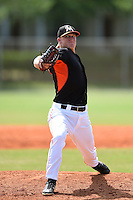 Miami Marlins pitcher Frankie Reed (21) during a minor league spring training game against the New York Mets on March 28, 2014 at the Roger Dean Stadium Complex in Jupiter, Florida.  (Mike Janes/Four Seam Images)