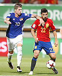 Spain's Nolito (r) and Liechtenstein's Sandro Wieser during FIFA World Cup 2018 Qualifying Round match. September 5,2016.(ALTERPHOTOS/Acero)