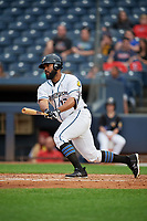 Akron RubberDucks Nellie Rodriguez (12) at bat during an Eastern League game against the Reading Fightin Phils on June 4, 2019 at Canal Park in Akron, Ohio.  Akron defeated Reading 8-5.  (Mike Janes/Four Seam Images)