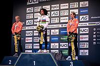 podium:<br /> <br /> 1st place: Ceylin Del Carmen Alverado (NED)<br /> 2nd place: Annemarie Worst (NED)<br /> 3th place: Lucinda Brand (NED)<br /> <br /> Women's Elite Race<br /> UCI 2020 Cyclocross World Championships<br /> Dübendorf / Switzerland<br /> <br /> ©kramon