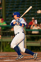 Michael Brenly (18) of the Daytona Cubs during a game vs. the Charlotte Stone Crabs June 1 2010 at Jackie Robinson Ballpark in Daytona Beach, Florida. Charlotte won the game against Charlotte by the score of 4-1.  Photo By Scott Jontes/Four Seam Images