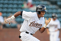 August 2, 2009: Outfielder Wilton Infante (25) of the Greeneville Astros, rookie Appalachian League affiliate of the Houston Astros, in a game at at Pioneer Park in Greeneville, Tenn. Photo by:  Tom Priddy/Four Seam Images
