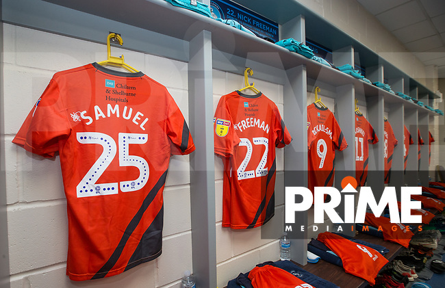 Wycombe Wanderers changing room pre match during the Carabao Cup 2nd round match between Wycombe Wanderers and Forest Green Rovers at Adams Park, High Wycombe, England on 28 August 2018. Photo by Andy Rowland.