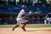 Jacksonville Jumbo Shrimp John Silviano (22) at bat during a Southern League game against the Mississippi Braves on May 5, 2019 at Trustmark Park in Pearl, Mississippi.  Mississippi defeated Jacksonville 1-0 in ten innings.  (Mike Janes/Four Seam Images)