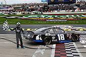 #18: Kyle Busch, Joe Gibbs Racing, Toyota Supra iK9 celebrates his win at