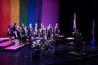 Big Gay Sing presented by Gateway Men's Chorus in Edison Theater at Washington University in St. Louis, Missouri on June 16, 2016.