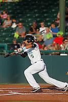 Daytona Tortugas shortstop Alex Blandino (5) at bat during a game against the Tampa Yankees at Radiology Associates Field at Jackie Robinson Ballpark on June 13, 2015 in Daytona, Florida. Tampa defeated Daytona 8-6. (Robert Gurganus/Four Seam Images)
