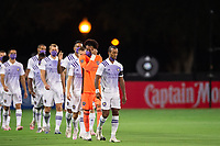 LAKE BUENA VISTA, FL - AUGUST 11: Nani #17 of Orlando City SC leads the team onto the field before a game between Orlando City SC and Portland Timbers at ESPN Wide World of Sports on August 11, 2020 in Lake Buena Vista, Florida.