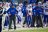 Buffalo Bills head coach Sean McDermott (left) during an NFL Wild-Card football game against the Jacksonville Jaguars, Sunday, January 7, 2018, in Jacksonville, Fla.  (Mike Janes Photography)