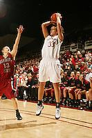STANFORD, CA - JANUARY 10:  Forward Jillian Harmon #33 of the Stanford Cardinal during Stanford's 102-53 win against the Washington State Cougars on January 10, 2009 at Maples Pavilion in Stanford, California.