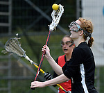 GER - Hannover, Germany, May 30: During the Women Lacrosse Playoffs 2015 match between DHC Hannover (black) and SC Frankfurt 1880 (red) on May 30, 2015 at Deutscher Hockey-Club Hannover e.V. in Hannover, Germany. Final score 23:3. (Photo by Dirk Markgraf / www.265-images.com) *** Local caption *** Johanna Hentze #9 of DHC Hannover