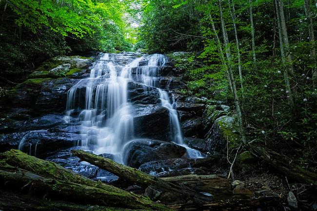 Summer Rains feed Lower Higgins Creek Falls, Rocky Fork