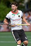 NED - Amsterdam, Netherlands, August 20: During the men Pool B group match between Germany (white) and Ireland (green) at the Rabo EuroHockey Championships 2017 August 20, 2017 at Wagener Stadium in Amsterdam, Netherlands. Final score 1-1. (Photo by Dirk Markgraf / www.265-images.com) *** Local caption *** Dieter-Enrique Linnekogel #16 of Germany