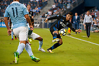 Kansas City, KS - Wednesday August 9, 2017: Nick Lima during a Lamar Hunt U.S. Open Cup Semifinal match between Sporting Kansas City and the San Jose Earthquakes at Children's Mercy Park.