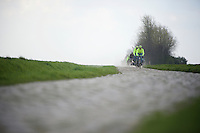 Team Tinkoff at recon of the 114th Paris - Roubaix 2016