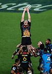 Brodie Retallick of the Chiefs misses a lineout during the Super Rugby Match between the Blues and the Chiefs, Eden Park, Auckland,  New Zealand. Friday 26  May 2017. Photo: Simon Watts / www.bwmedia.co.nz