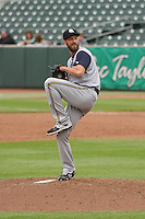 Colorado Springs Sky Sox pitcher Jim Henderson (39) delivers a pitch during a Pacific Coast League game against the Iowa Cubs on May 10th, 2015 at Principal Park in Des Moines, Iowa.  Iowa defeated Colorado Springs 14-2.  (Brad Krause/Four Seam Images)
