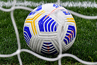 A Nike Serie A official ball is seen in the goal net during the Serie A football match between SS Lazio and FC Crotone at Olimpico Stadium in Roma (Italy), March 12th, 2021. Photo Andrea Staccioli / Insidefoto