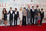 08.10.2012. The film team attends the premiere of Kinepolis Cinema in Madrid of the movie 'The Impossible'. Directed by Juan Antonio Bayona and starring by  Naomi Watts and Tom Holland. In the image Film Team (Alterphotos/Marta Gonzalez)