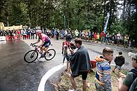 Tanel Kangert (EST/EF Education First) up the Col de Porte (final climb to the finish)<br /> <br /> Stage 2: Vienne to Col de Porte (135km)<br /> 72st Critérium du Dauphiné 2020 (2.UWT)<br /> <br /> ©kramon